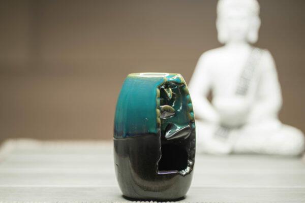 Räucherbrunnen Vase Seitenansicht